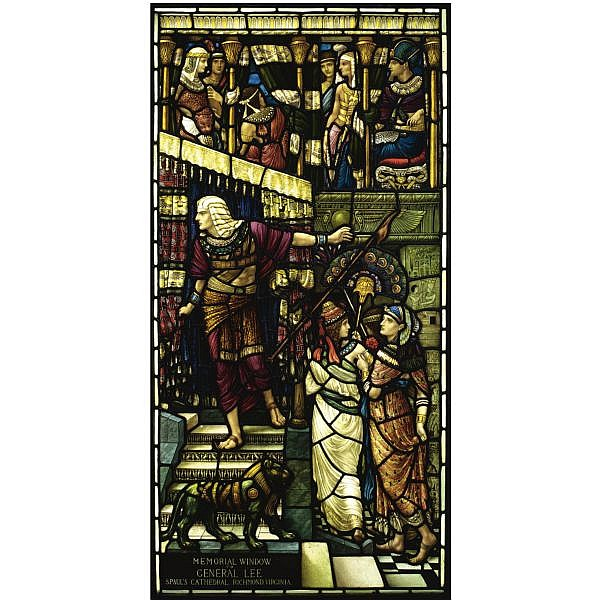 - Henry Holiday (1839 - 1927) , `Moses leaving the Court of Pharaoh': A memorial window to General Robert E. Lee