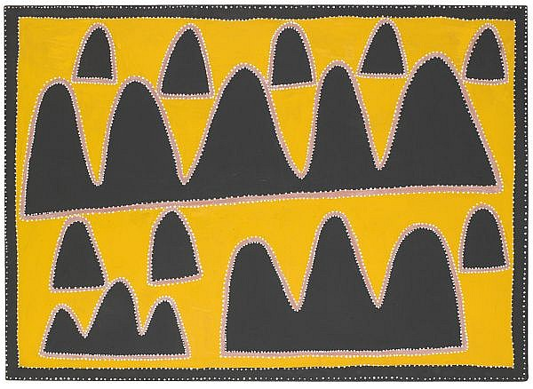 QUEENIE McKENZIE (NAKARRA) , CIRCA 1930-1998 YOORLGOOBAN COUNTRY Natural earth pigments and synthetic binder on canvas