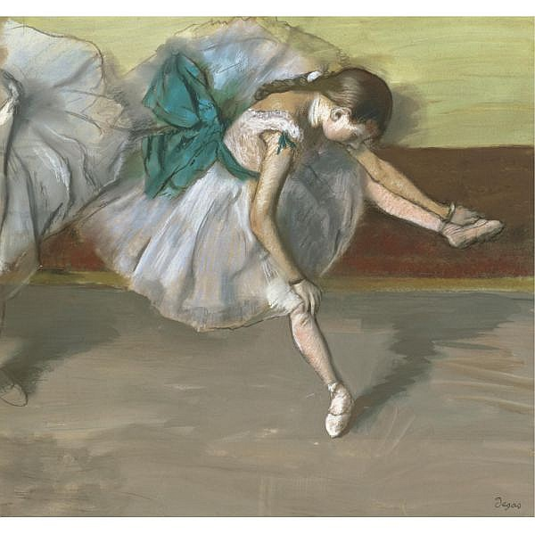 - Edgar Degas , 1834-1917 Danseuse au repos   Pastel and gouache on joined paper