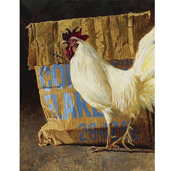 Jamie Wyeth B. 1946 , Cornflakes combined mediums on paper