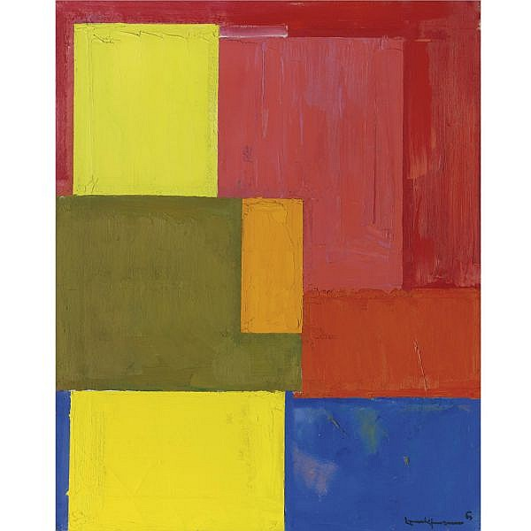 - Hans Hofmann , 1880-1966 Gloria in Excelsis oil on canvas