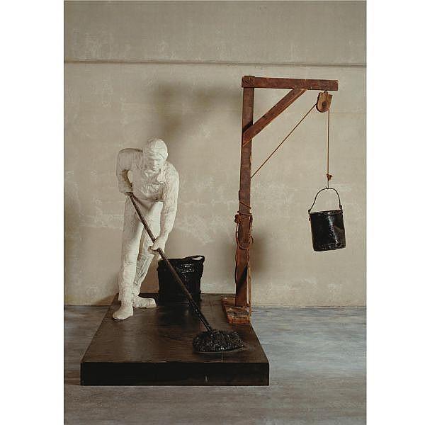 - George Segal , 1924-2000 The Tar Roofer plaster, wood, tar, enamel, rope, broom and buckets