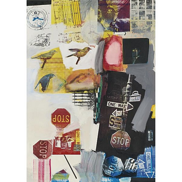 - Robert Rauschenberg , b. 1925 Overdrive oil and silkscreen ink on canvas