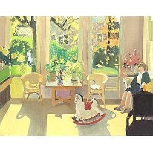 FAIRFIELD PORTER 1907-1975 OCTOBER INTERIOR Measurements: 56 by 72in Alternate Measurements: (142.2 by 182.8 cm) signed Fairfield Porter and dated '63, l.r.; also inscribed October Interior-oil-Fairfield Porter-1964 on the stretcher oil on canvas