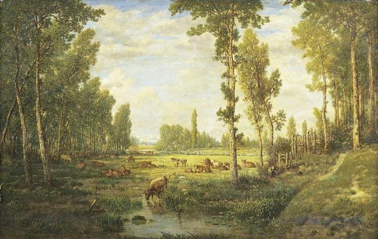 PIERRE- ETIENNE THÉODORE ROUSSEAU PARIS 1812- BARBIZON 1867