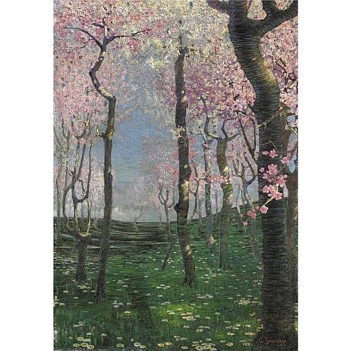 Cesare Saccaggi (Tortona 1868 - 1934) , primavera