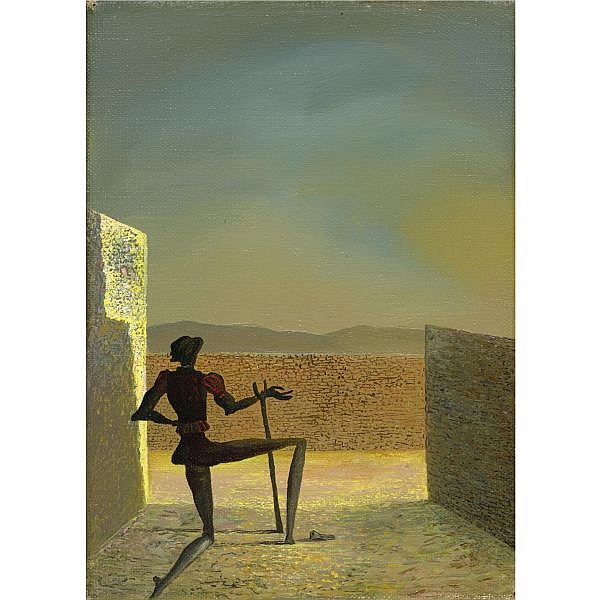 Salvador Dalí , 1904-1989 Le spectre de Vermeer de Delft Oil on canvas