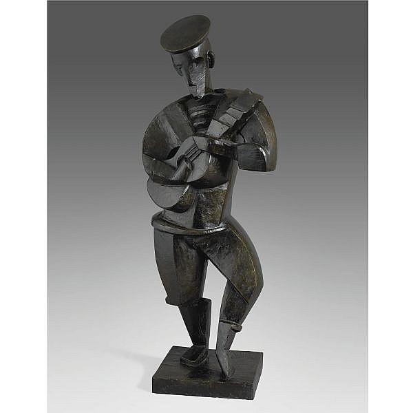Jacques Lipchitz , 1891-1973 Marin à la guitare Bronze