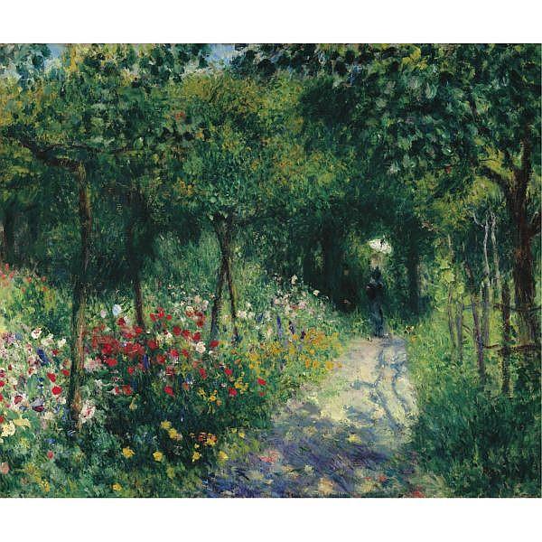Pierre-Auguste Renoir , 1841-1919 FEMMES DANS UN JARDIN Oil on canvas