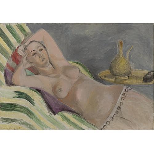 l - Henri Matisse , Odalisque grise et jaune
