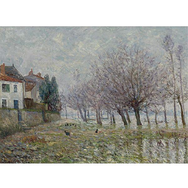 Maxime Maufra , 1861-1918 APRÈS L'INONDATION, HAUTE-INDRE, LOIRE INFÉRIEURE Oil on canvas