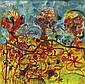 John Olsen born 1928 LUNCH AT HEIDE 1990 watercolour and pastel on paper