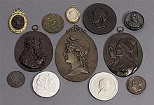 A collection of plaques and medallions, 19th/20th century (12)