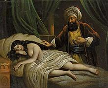 Orientalist School, a pair of oil paintings depicting Turkish Harem subjects, 19th century (2)