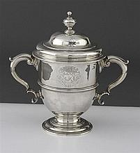 A George II silver two-handled cup and cover, Peter Archambo, London 1731