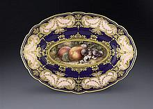 A Royal Worcester oval plate, by and signed Richard Sebright