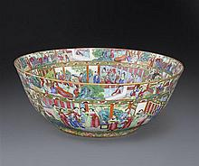 A large Canton 'famille-rose' bowl Qing dynasty, 19th century