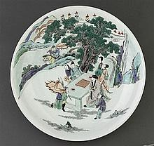 A 'famille-verte' saucer dish,19th/20th century