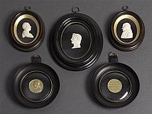 A collection of framed cameos and medallions, 19th/20th century (5)
