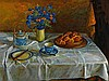 MARGARET OLLEY 1923-2011 Morning Brioche 1982 oil on board