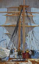 VIOLET TEAGUE 1872-1951 Barque 'C.B. Pedersen' (1935) oil on board