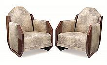 A pair of André Sornay 'The Tank' armchairs, circa 1930 (3)