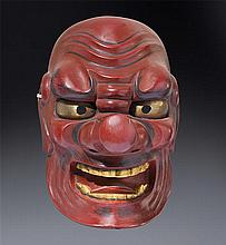 A wood Noh mask of Tengu Meiji/Taisho periodlate 19th century