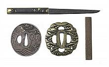 Two kozuka and two tsuba18th/19th century (4)