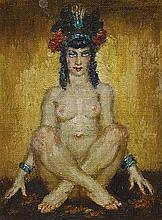 NORMAN LINDSAY 1879-1969 (Nude) oil on canvas
