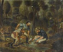 ARTIST UNKNOWN (after Oswald Rose Campbell, 1820-1887) Prospecting in Australia (circa 1890s) oil on canvas