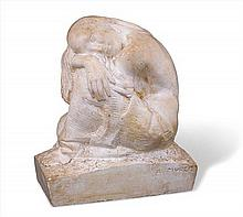 ARTHUR MURCH 1902-1989 (Crouching Female Figure) plaster