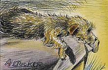 ALBERT TUCKER 1914-1999 (The Dog) (circa 1933) pastel and pencil on paper