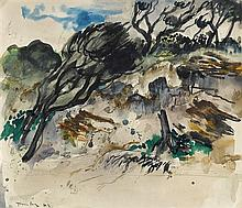 ALBERT TUCKER 1914-1999 Sorrento 1942 watercolour and pencil on paper