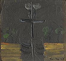 ALBERT TUCKER 1914-1999 Figure 1978 synthetic polymer paint on composition board