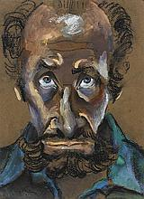 ALBERT TUCKER 1914-1999 Self Portrait 1978 pastel and charcoal on paper