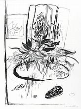 BRETT WHITELEY 1939-1992 Flowers on the Table (1977) lithograph on paper