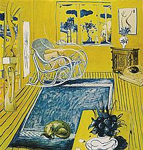 BRETT WHITELEY 1939-1992 The Cat (1980) lithograph on paper