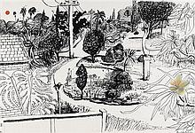 BRETT WHITELEY 1939-1992 Linfield Gardens (1978) scrennprint and offset lithography on paper