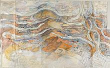 JOHN WOLSELEY Born 1938 A Natural History of Sand Dunes, Arrerente Desert 1992-1993 watercolour, colour pencil, gouache, graphite an...