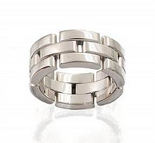 18ct white gold 'Maillon Panthère' ring, Cartier