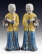 A PAIR OF FIGURES OF LAUGHING BOYS QING DYNASTY (2)