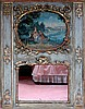 18TH C. FRENCH TRUMEAU MIRROR FROM A PANELED ROOM