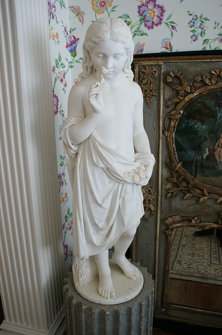 GIOVANNI FONTANA (1829-1893) MARBLE SCULPTURE 43 INCHES HIGH