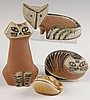 MELISSA LARSON FOR GUSTAVSBURG STONEWARE ANIMAL FIGURES
