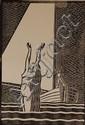 EARL NEFF (1902-1993) PENCIL SIGNED BLOCK PRINT