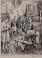 PEGGY BACON (1895-1987) PENCIL SIGNED LITHOGRAPH 'THE PRICELESS FIND'