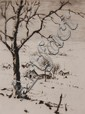 JAMES SWANN (1905-1985) PENCIL SIGNED MINIATURE DRY POINT ETCHING