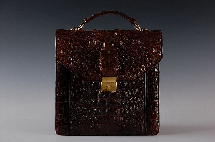 EXOTIC ALLIGATOR BAG WITH AMIET CODED LOCK
