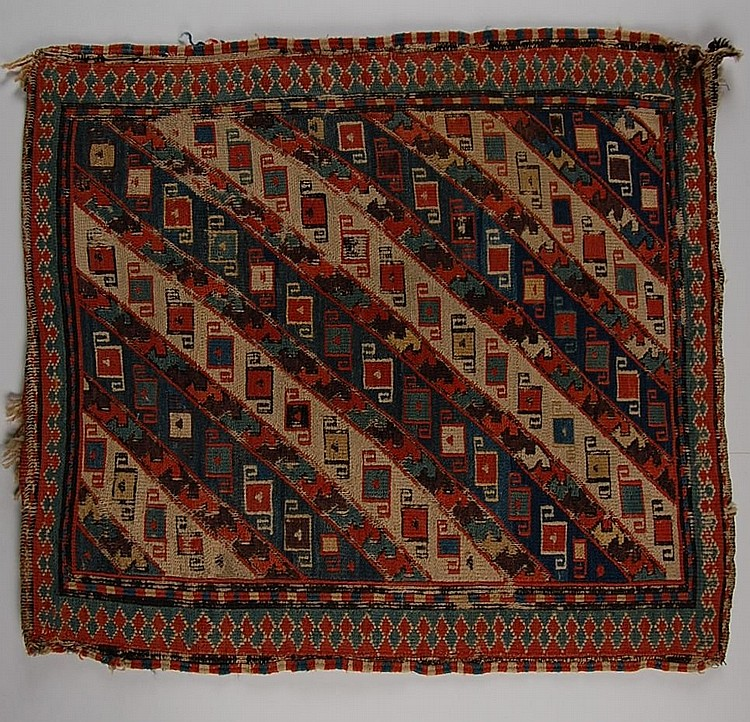 ANTIQUE SOUMAK CAUCASIAN BAG FACE
