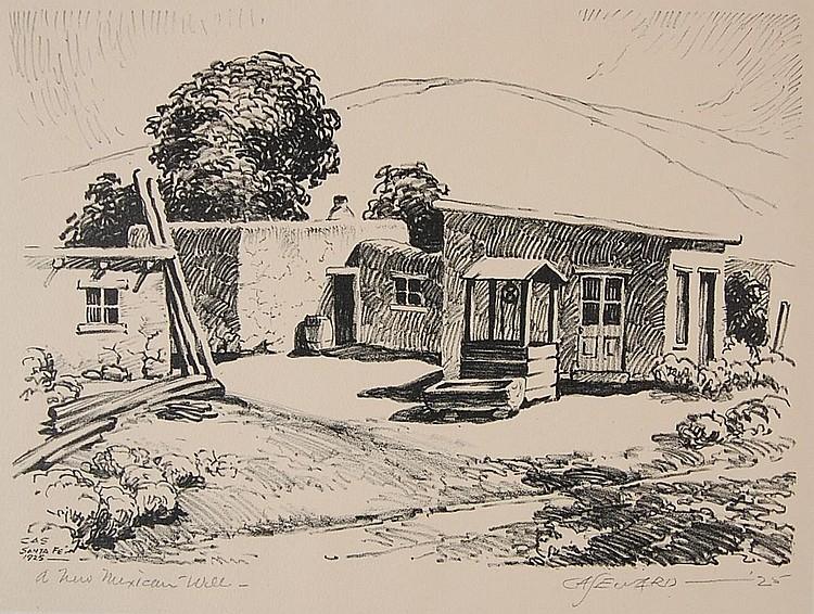 COY AVON SEWARD (1884-1939) PENCIL SIGNED LITHOGRAPH